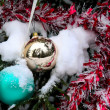 Christmas-tree decoration. Snow. - Stok fotoğraf