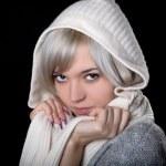 Das Mädchen in weißen Haube — Stockfoto