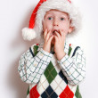 Stock Photo: Boy with santa-hat, smiling