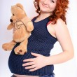 Stock Photo: Pregnant woman