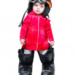 Royalty-Free Stock Photo: Baby in clothes snowboarder in goggles