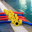 Equipment in the pool — Stock Photo