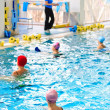Aqua aerobics in the pool — Stockfoto