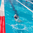 Swimmer athlete in the pool — Stock Photo