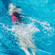 Swimmer athlete in the pool — ストック写真