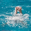 Swimmer athlete in the pool — Stock fotografie