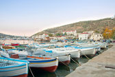 Wooden boats in the bay — Stock Photo