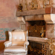 Стоковое фото: Interior with furniture and mantel