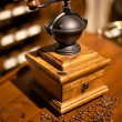Vintage manual wooden coffee grinder — Stock Photo #5204197