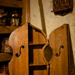 Foto de Stock  : Antique wooden cabinet bass