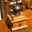 Vintage manual wooden coffee grinder — Stock Photo