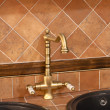 Vintage bronze faucet — Stock Photo #5204212