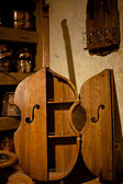 Antique wooden cabinet bass — Stock Photo