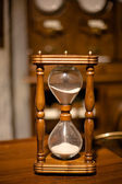 Vintage wooden sandglass — Stockfoto