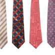 Set of man's ties isolated - Stock Photo