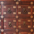 Old wooden vintage chest of drawers - Photo