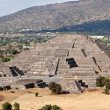 Pyramid of the Moon. Teotihuacan, Mexico - Stock Photo
