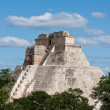 Maypyramid (Pyramid of Magician, Adivino) in Uxmal, Mexic — Stock Photo #4517571