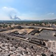 Stock Photo: Valley of Dead. View from Pyramid of Sun.