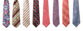 Set of man's ties isolated — Stock fotografie