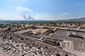 Valley of the Dead. View from the Pyramid of the Sun. — Stock Photo