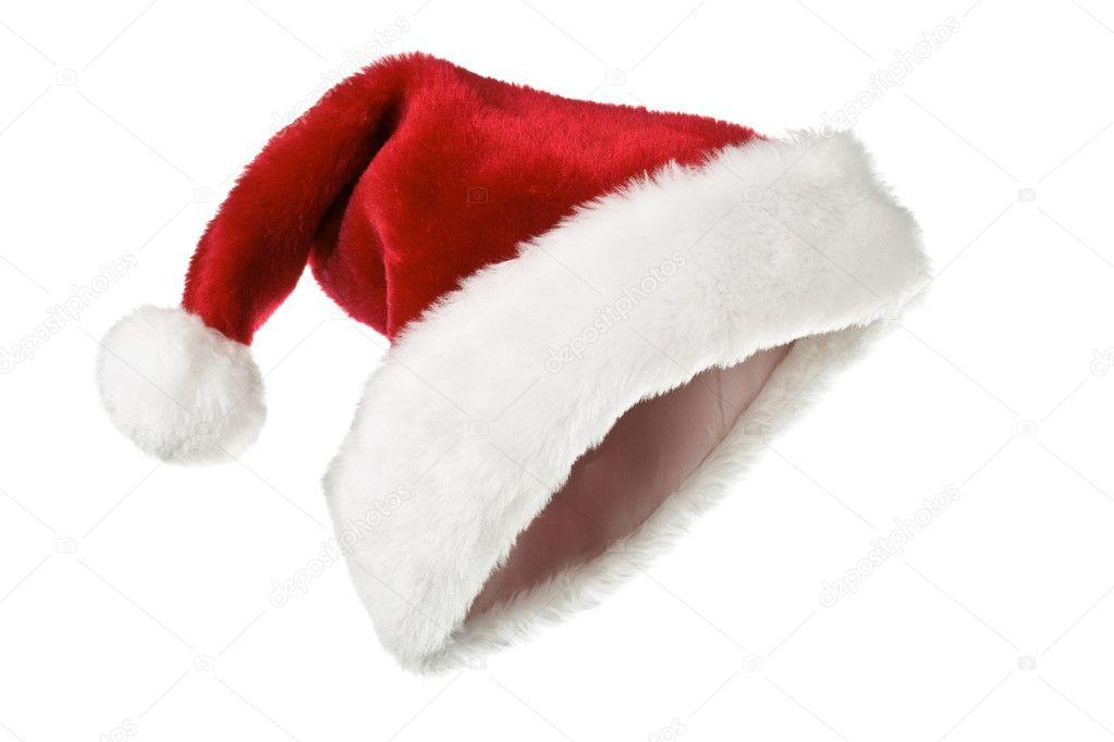 Santa's red hat isolated on white  Stock Photo #4517113