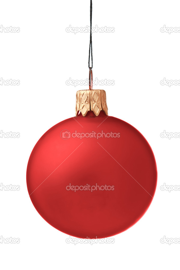 Christmas bauble isolated on white background — Zdjęcie stockowe #4517334