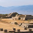Ancient ruins on plateau Monte Alban in Mexico — Stock Photo