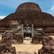 Ancient Buddhist dagoba (stupe) Pabula Vihara. - Stock Photo