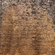 Ancient stone inscriptions in Singalese language texture. — Stock Photo
