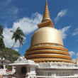Buddhist dagoba (stupa) in Golden Temple, Dambulla, Sri Lanka - Stock Photo