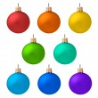 Set of christmas ornaments isolated - 图库照片