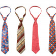 Set of man's ties isolated — Stock Photo #4520861