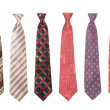 Set of man&#039;s ties isolated - Stock Photo