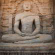 Stock Photo: Ancient sitting Buddhimage
