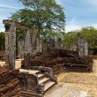 Pillars. Ruins. Ancient city of Polonnaruwa. — Stock Photo