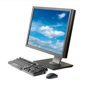 独立的计算机工作站 — 图库照片