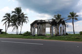 House ruined by tsunami — Stock fotografie