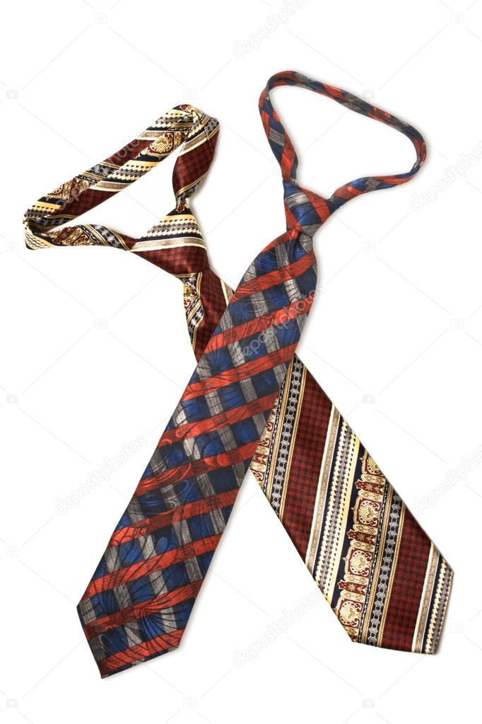 Set of man ties isolated on white cropped — Stock Photo #4520856