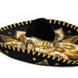 Black sombrero isolated - Stock Photo