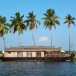 Houseboat on Kerala backwaters, India - Foto Stock