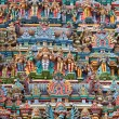 Stock Photo: Sculptures on Hindu temple tower