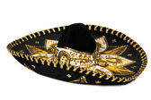Black sombrero isolated — Stock Photo