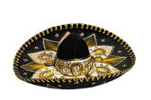 Black sombrero isolated — Fotografia Stock