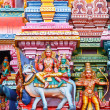 Sculptures on Hindu temple tower — Stock Photo #5052732