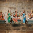 Stock Photo: Hindu goddesses Parvati, Lashmi and Saraswati
