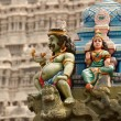 Sculptures on Hindu temple tower — Stock Photo #5052800