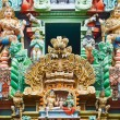 Sculptures on Hindu temple tower — Stock Photo #5052802
