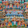 Sculptures on Hindu temple tower — Stock Photo #5052825