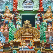 Sculptures on Hindu temple gopura (tower) — Stock Photo #5053098